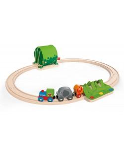 Игра Hape - Пътешествие с влак в джунглата