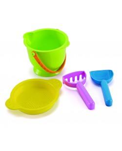 Пясъчна играчка Hape - Кофичка и лопатки, комплект