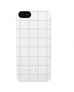 HUGO BOSS Squares Hardcover за iPhone 5 -  бял