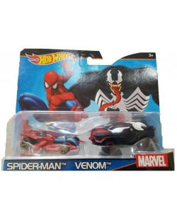 Комплект Mattel Hot Wheels - Spider-Man и Venom