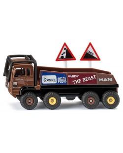 Метална количка Siku Super - Строителен камион HS Schoch 8x8 MAN