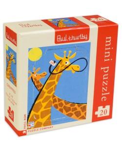 Мини пъзел New York Puzzle от 20 части - Жирафи