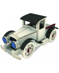 Дървен 3D пъзел Robo Time от 49 части - Класически автомобил 3