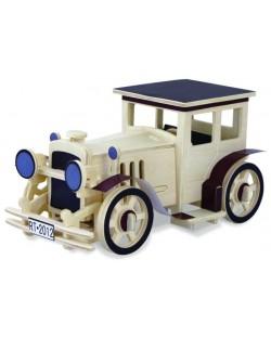 Дървен 3D пъзел Robo Time от 49 части - Класически автомобил 1