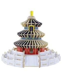 Дървен 3D пъзел Robo Time от 191 части – Храмът на небето в Бейджинг