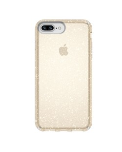 Калъф Speck iPhone 8/7/6S/6 Plus Presidio Clear + Glitter - Clear With Gold Glitter/Clear