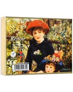 Карти за игра Piatnik - Renoir - Red hat (2 тестета)