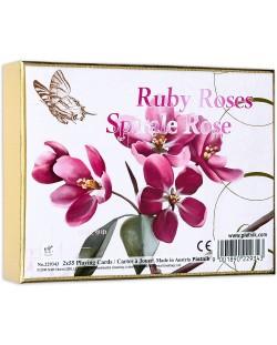 Карти за игра Piatnik - Ruby Roses (2 тестета)