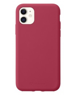 Калъф за iPhone 11 Cellularline - Sensation, червен