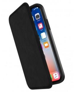 Калъф Speck Presidio Folio - за iPhone X, кожен, черен