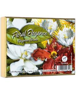 Карти за игра Piatnik - Floral Elegance (2 тестета)
