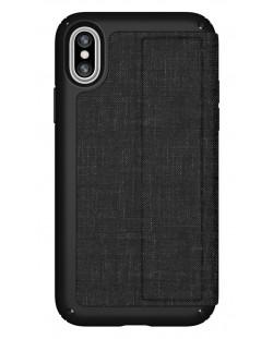 Калъф Speck iPhone X Presidio Folio - Heathered Black/Black/Slate Grey