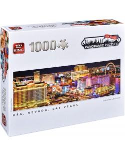 Панорамен пъзел King от 1000 части - Невада, Лас Вегас, Сузане Кремер