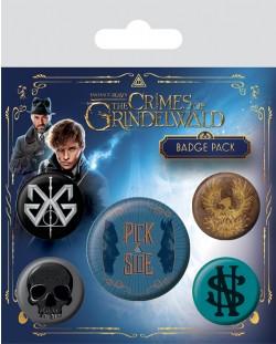 Комплект значки Pyramid - Fantastic Beasts The Crimes Of Grindelwald