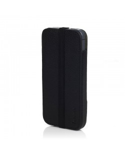 Knomo Leather Sleeve Elastic за iPhone 5 -  черен