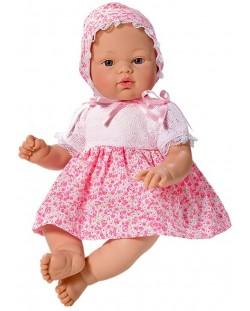 Кукла Asi - Бебе Коке, с розова рокличка на цветя