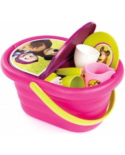 Детска кошница за пикник Smoby - Маша и мечока