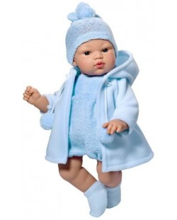 Кукла Asi - Бебе Коке, със синьо гащеризонче и пaлто
