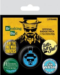 Комплект значки Pyramid -  Breaking Bad (Heisenberg Flask)