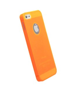 Krusell FrostCover за iPhone 5 -  оранжев-прозрачен