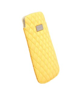 Krusell Avenyn Mobile Pouch L Long за iPhone 5 -  жълт