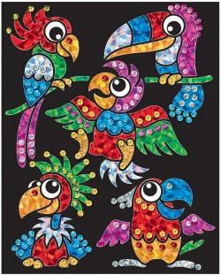 Творчески комплект KSG Crafts Sequin Art - Изкуство с пайети и фолио, Птици-бебета