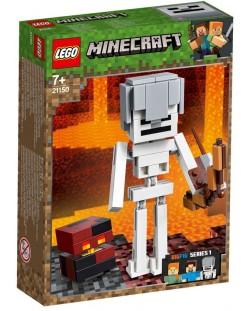 Конструктор Lego Minecraft - Голяма фигурка скелет с куб от магма (21150)