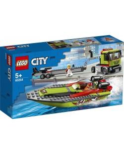 Конструктор Lego City Great Vehicles - Транспортьор на състезателни лодки (60254)