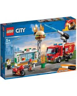 Конструктор Lego City - Спасителна акция от пожар в бургер бар (60214)
