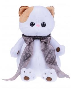 Плюшена играчка Budi Basa - Коте Ли-Ли, с копринена панделка, 25 cm