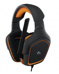 Гейминг слушалки Logitech G231 Prodigy - черни/оранжеви