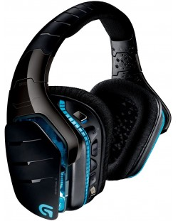 Гейминг слушалки Logitech G933 Artemis Spectrum - 7.1 Surround, безжични, черни
