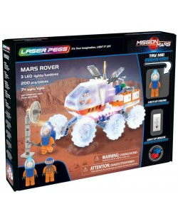 Светещ конструктор Laser Pegs Mission Mars - Марсоход
