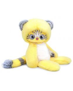 Плюшена играчка Budi Basa Lori Colori  - Ейка, в жълт цвят, 30 cm