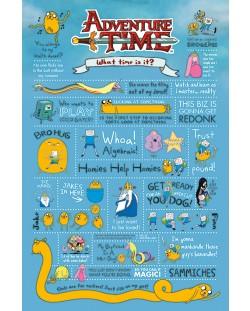Макси плакат Pyramid - Adventure Time (Infographic)