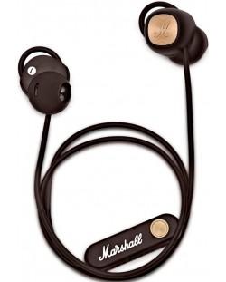 Слушалки с микрофон Marshall Minor II - безжични, кафяви