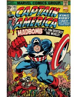 Макси плакат Pyramid - Marvel Retro (Captain America - Madbomb)