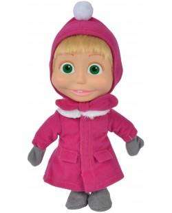 Кукла Simba Toys Маша и мечока - Маша, със зимна премяна, 23 cm