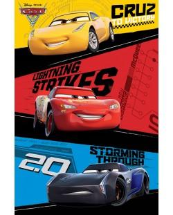 Макси плакат Pyramid - Cars 3 (Trio)