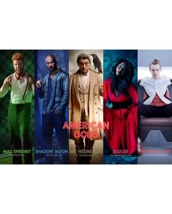 Макси плакат Pyramid - American Gods (Collage)