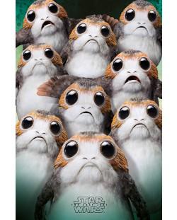 Макси плакат Pyramid - Star Wars The Last Jedi (Many Porgs)