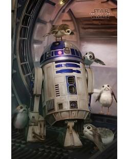 Макси плакат Pyramid - Star Wars The Last Jedi (R2-D2 & Porgs)