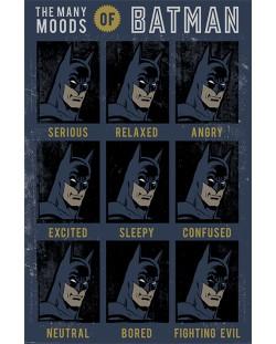 Макси плакат Pyramid - DC Originals (The Many Moods Of Batman)
