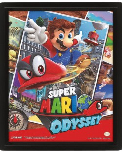 3D плакат с рамка Pyramid - Super Mario Odyssey: Snapshots