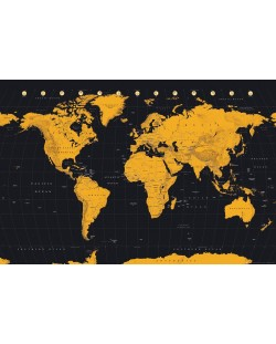 Макси плакат GB Eye World Map - Gold