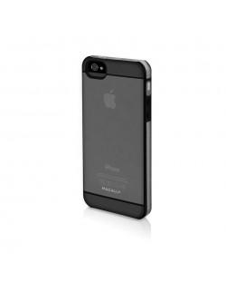 Macally See-Thru Hard Shell Case  за iPhone 5 -  черен-прозрачен