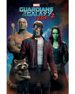 Макси плакат Pyramid - Guardians of the Galaxy Vol, 2 (Characters In Space)