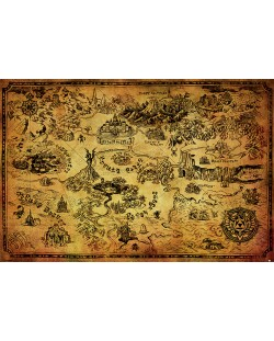 Макси плакат Pyramid - The Legend Of Zelda (Hyrule Map)