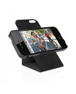 Macally Flip Case Rotatable Stand за iPhone 5 - черен