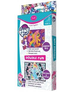 Творчески комплект Revontuli Toys Oy - Пъзел и гравиране, двоен, Моето малко пони